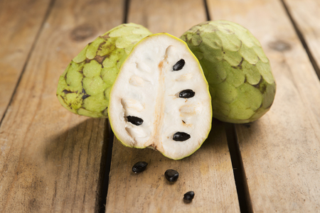 chirimoya: Chirimoya tropical fruit with a sweet flavor and intense