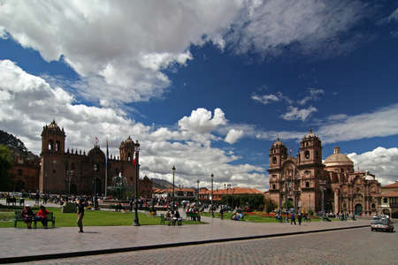 cuzco: plaza de armas in cuzco Stock Photo