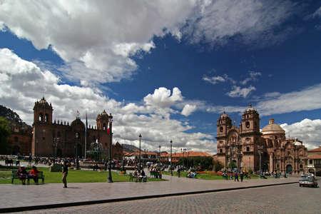 plaza de armas: plaza de armas in cuzco Stock Photo