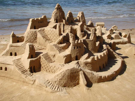 sand castle in brazil                                Stock Photo