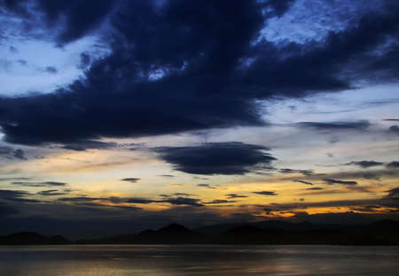 colorful scenery of the sky and sea Stock Photo - 4824522