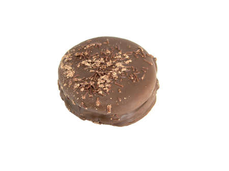 alfajor, delicious and tasty chocolate dessert from argentina           photo
