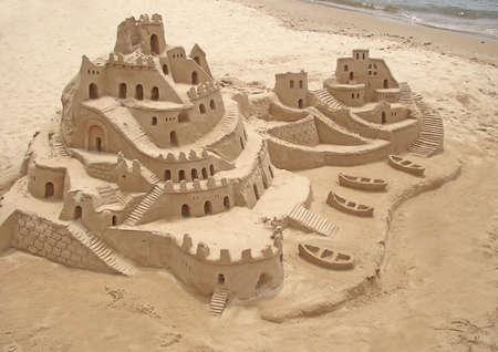 sandcastle: sand castle in brazilian beach