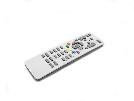 changing channels: remote control with colored buttons