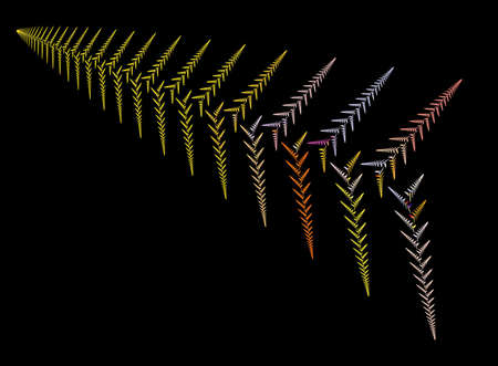 abstract fractal leaf Stock Photo - 7436358