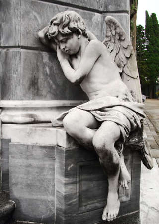sculptures: marble sculpture angel at buenos aires cemetery