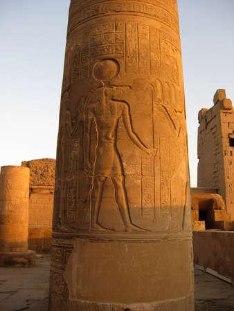 notch: EGYPT, Kom Ombo - Temple of the gods Horus and Sobek, notch with God Sobek