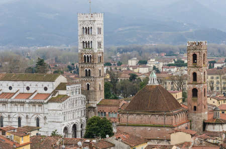 aereal: Aereal View Of Lucca - Italy
