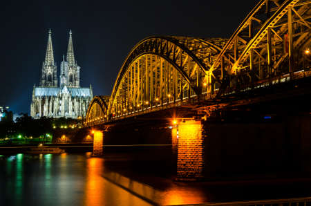 Koln. Gothic Cathedral and Central Station photo