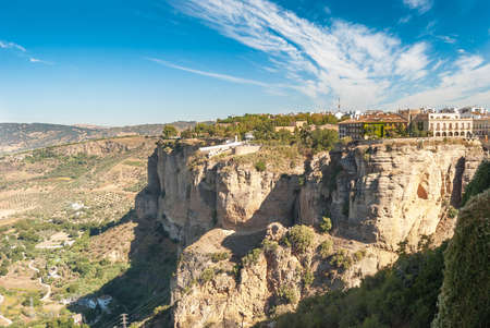 ronda: A beautiful Landscape of Ronda, Little Town in Andalusia, Spain Stock Photo