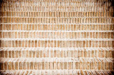 clinker tile: Patr�n de escalera de ladrillo, naranja de estilo antiguo en color y efecto de la ilustraci�n de la vendimia