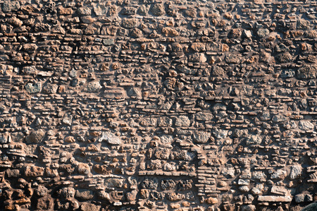red wallpaper: Old red roman wall bricks background texture wallpaper background horizontal