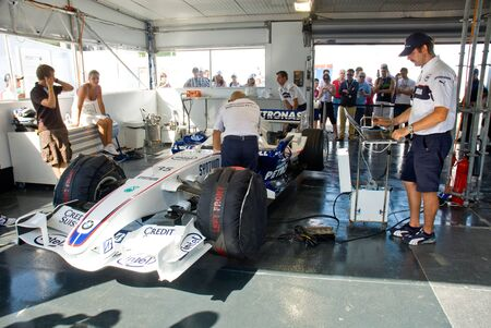 sauber: ROME, ITALY - JUNE 23 2007. Formula 1 Sauber Bmw box in Bmw Rome festival