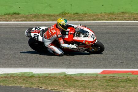 troy: ROME, ITALY - SEPTEMBER 30 2007. Superbike championship, Vallelunga circuit. Troy Bayliss in action