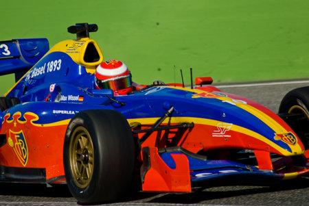 2 november: VALLELUNGA CIRCUIT, ROME, ITALY - NOVEMBER 2 2008. Superleague Formula, cars on track during race 1 Editorial