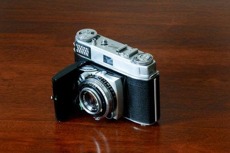 kodak: Vintage collectible Kodak retina camera still life on wooden table