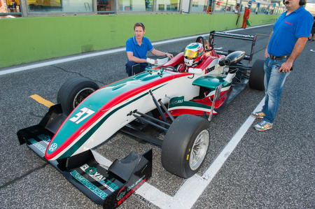 Vallelunga, Rome, Italy. September 4th 2016. F2 italian trophy: driver Luca Martucci on race one grid Editorial