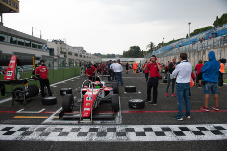 starting line: Vallelunga, Rome, Italy. September 10th 2016. Formula 4 Championship, Car on starting line before the race