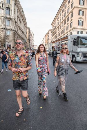 sexual orientation: Rome, Italy june 10th 2017. Colorful people on the street during gay pride parade