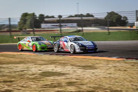 carrera: Vallelunga, Rome, Italy. June 24 2017. Italian Porsche Carrera Cup Carlo Curti racing driver in action on circuit turn