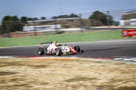 Vallelunga, Rome, Italy. June 24 2017. Italian Formula 4 Abarth championship, driver Aldo Festante in action during the race on DR Formula team car
