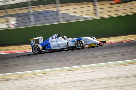 Vallelunga, Rome, Italy. June 24 2017. Italian Formula 4 Abarth championship, Andrea DellAccio driver in action on track on Henry Morrogh Racing team car