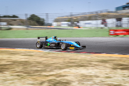 Vallelunga, Rome, Italy. June 24 2017. Italian Formula 4 Abarth championship, driver Giorgio Carrara in action during the race on Jenzer motorsport team car Editorial