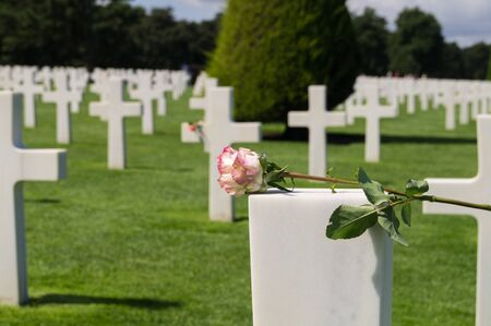 In memory of many friends. Monumental Cemetery of Omaha Beach