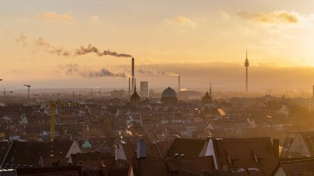 Nuremberg sunset landscape