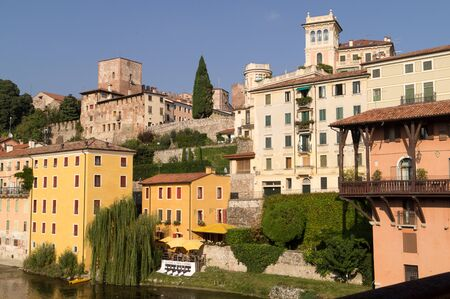 View on Bassano del Grappa. Translation