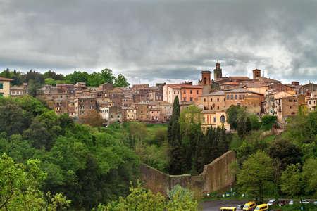 volterra: the city of Volterra under gray skies Stock Photo