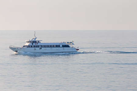 sightseeing tour: great boat for sightseeing tour floats through the waters of the sea