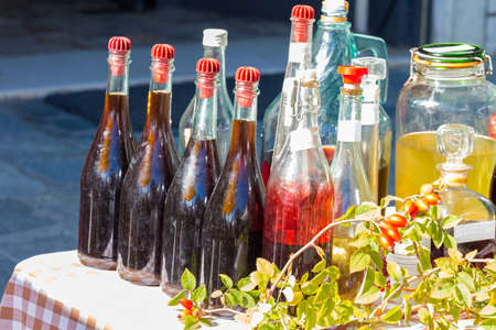 group of bottles of wine to the market