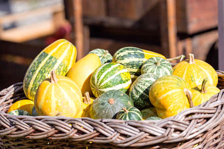 group of yellow vegetables in the basket