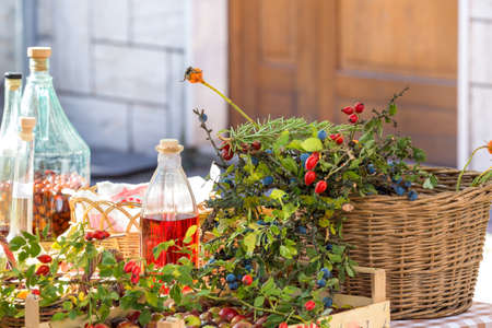 liquor to berries on market stall
