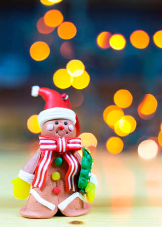 little gingerbread man with blurred background