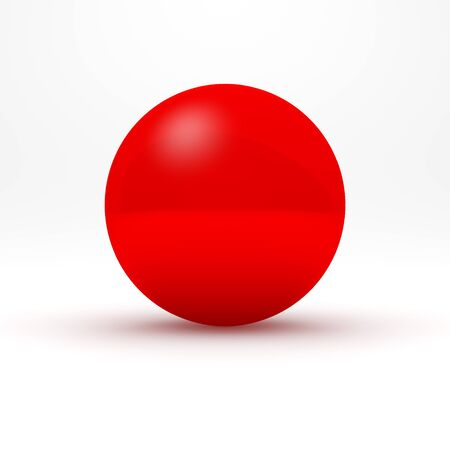 red sphere: Red sphere on white background. 3D render.