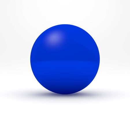 blue sphere: Blue sphere on white background. 3D render.