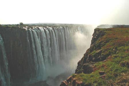 zimbabwe: Landscape of the  Victoria Falls, Zimbabwe, Africa Stock Photo