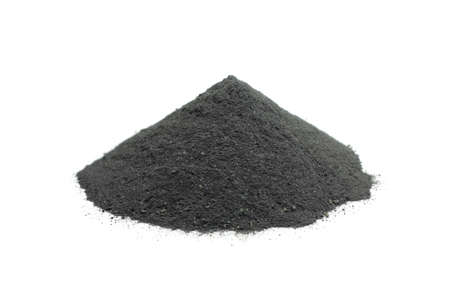A handful of powdered charcoal