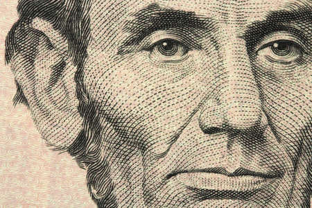 five dollar bill: New five-dollar bill closeup