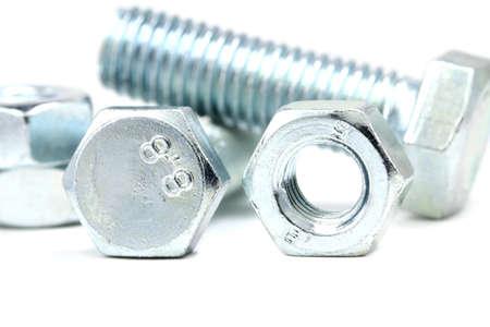 anodized: Sujetadores anodizado en el fondo blanco