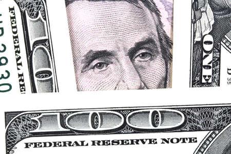 president???s: Il presidente Lincoln s ritratto sul primo piano banconota Archivio Fotografico