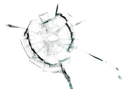 Weggebroken van een shot glas op een witte achtergrond Stockfoto - 28015465
