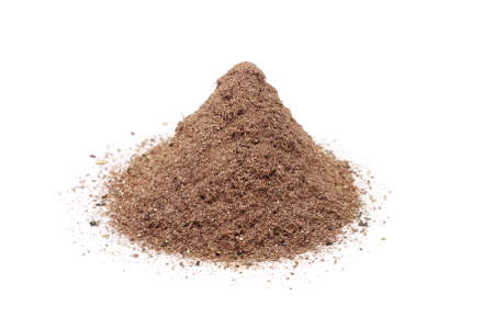 a bunch of copper powder on white background