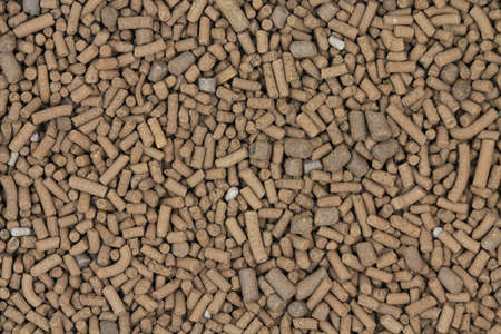 catalyst: Big brown catalyst pellets abstract background