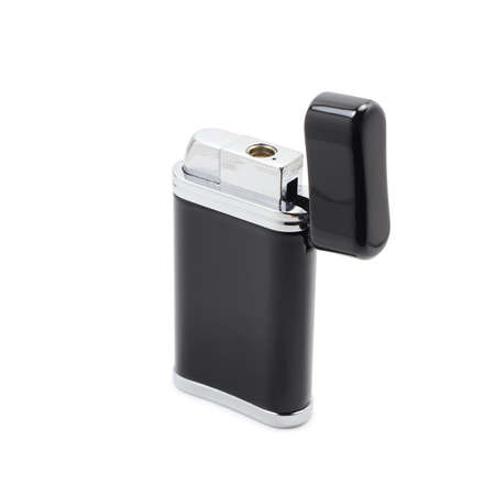 Black lighter on white background photo