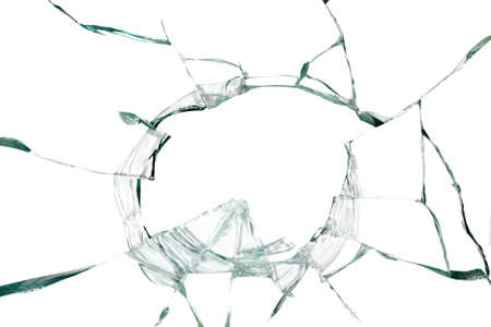 Broken silicate glass abstract background Stock Photo