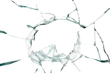 broken glass: Broken silicate glass abstract background Stock Photo