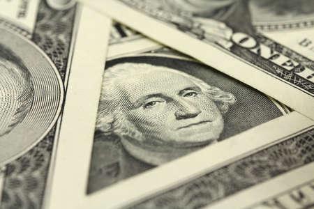 denominatie in $ 1 close up Stockfoto